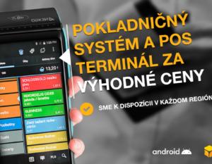 pokladničný systém a POS terminál za výhodné ceny